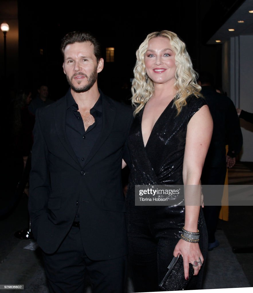 Ryan Kwanten and Elisabeth Rohm attend the premiere of Crackle's 'The Oath' at Sony Pictures Studios on March 7, 2018 in Culver City, California.