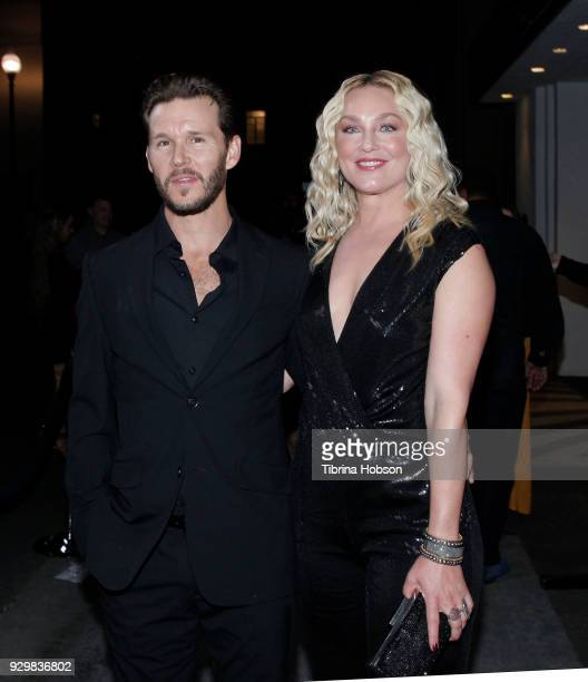 Ryan Kwanten and Elisabeth Rohm attend the premiere of Crackle's 'The Oath' at Sony Pictures Studios on March 7 2018 in Culver City California