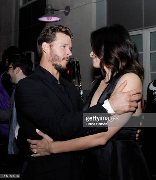 Ryan Kwanten and Katrina Law attend the premiere of Crackle's 'The Oath' after party at Sony Pictures Studios on March 7 2018 in Culver City...