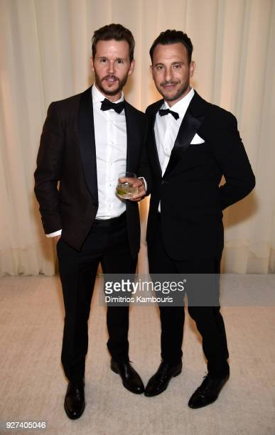 Ryan Kwanten and Lloyd Kwanten attend the 26th annual Elton John AIDS Foundation Academy Awards Viewing Party sponsored by Bulgari celebrating EJAF...