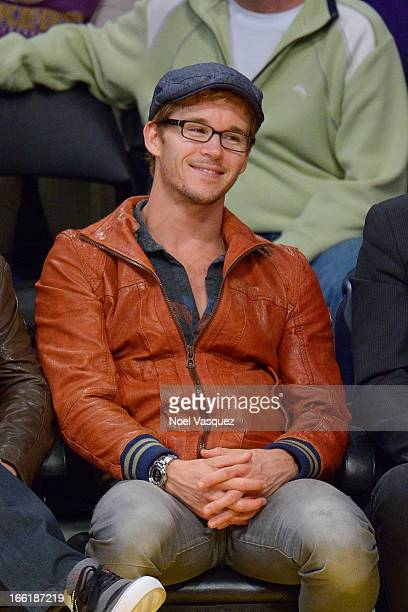 Ryan Kwanten attends a basketball game between the New Orleans Hornets and the Los Angeles Lakers at Staples Center on April 9 2013 in Los Angeles...