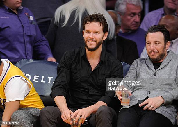 Ryan Kwanten attends a basketball game between the San Antonio Spurs and the Los Angeles Lakers at Staples Center on January 22 2016 in Los Angeles...