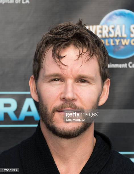 Ryan Kwanten visits 'Extra' at Universal Studios Hollywood on February 28 2018 in Universal City California
