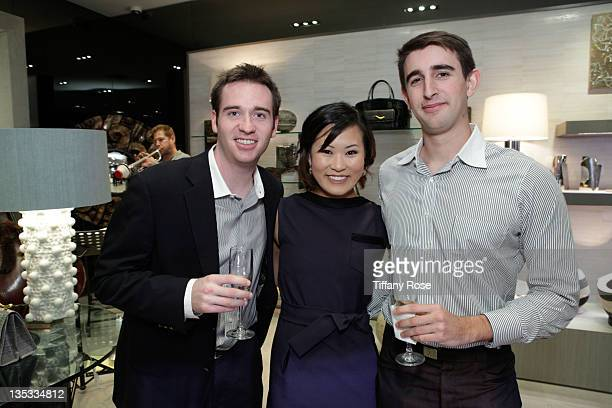 Ryan Lamont Michelle Lee and Daniel Madore attend the Opal Stone Luxury Handbags And Fine Jewelry Launch at Gray Gallery on December 8 2011 in...