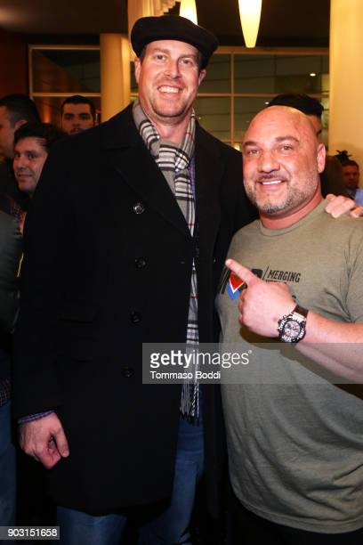 Ryan Leaf and Jay Glazer attend the Special Screening Of 12 Strong For MVP's Military Veterans at ArcLight Hollywood on January 9 2018 in Hollywood...
