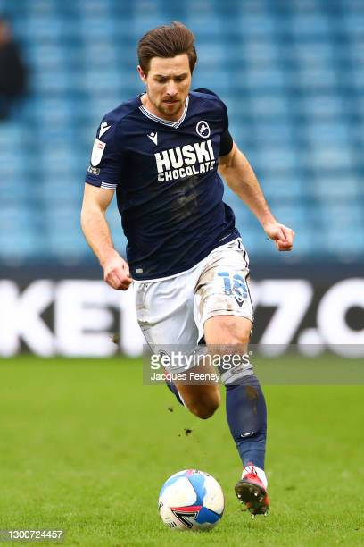 Ryan Leonard of Millwall FC runs with the ball during the Sky Bet Championship match between Millwall and Sheffield Wednesday at The Den on February...