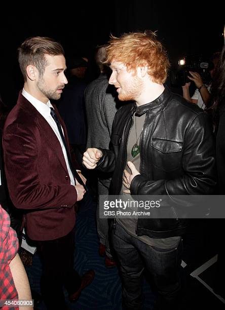 Ryan Lewis and Ed Sheeran backstage during the THE GRAMMY NOMINATIONS CONCERT LIVE Ñ COUNTDOWN TO MUSIC'S BIGGEST NIGHT¨ broadcast Friday Dec 6 on...