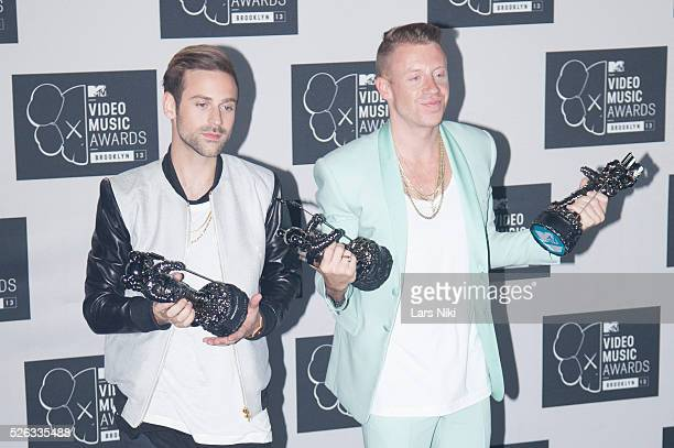 Ryan Lewis and Macklemore attend the 2013 MTV Video Music Awards at the Barclays Center in New York City. �� LAN