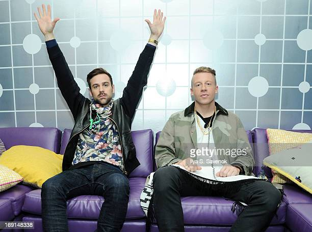 Ryan Lewis and Macklemore backstage at BET's '106 Park' at BET Studios on May 20 2013 in New York City