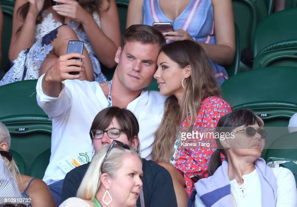 Ryan Libbey and Louise Thompson attend day six of the Wimbledon Tennis Championships at the All England Lawn Tennis and Croquet Club on July 8 2017...