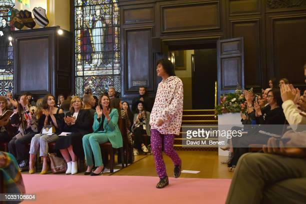 Ryan LO attends the Ryan LO front row during London Fashion Week September 2018 at Stationers' Hall on September 14 2018 in London England