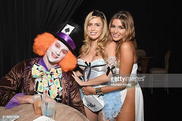 Ryan Lochte and Kayla Rae Reid attend the Casamigos Halloween Party at a private residence on October 28 2016 in Beverly Hills California