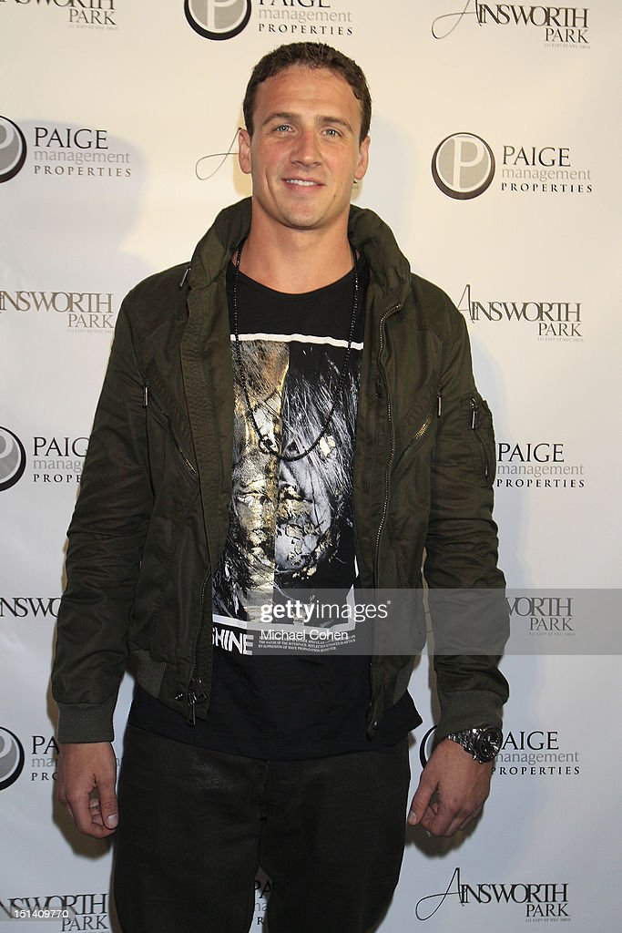 Ryan Lochte at a photocall during Ryan Lochte Hosts 'Guys Fashions Night Out' Presented By Ainsworth Park and Windsor Custom on September 6, 2012 in New York City.