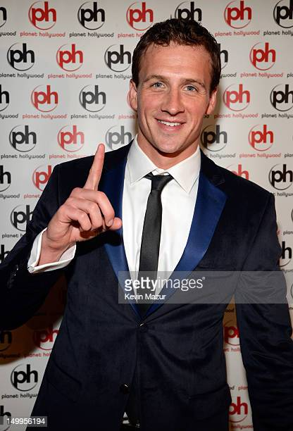 Ryan Lochte attends Arluck Promotions and Wright Entertainment Sport present their athlete celebration party at Planet Hollywood on August 7 2012 in...