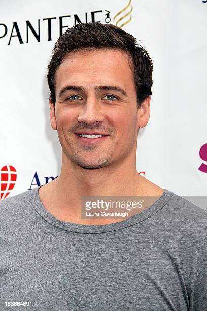 Ryan Lochte attends Swim for Relief benefiting Hurricane Sandy recovery at Herald Square on October 8 2013 in New York City