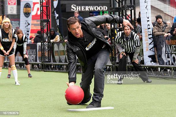 Ryan Lochte attends the 2013 Celebrity Kickball Game in Times Square on April 23, 2013 in New York City.
