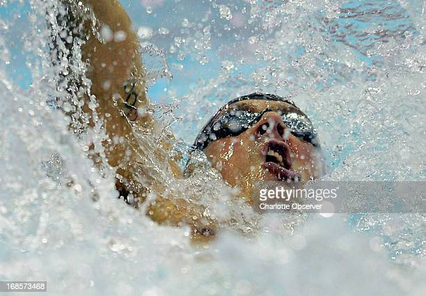 Ryan Lochte of Daytona Beach Swimming competes competes in the men's 100m Backstroke AFinal at the Mecklenburg County Aquatic Center in Charlotte...
