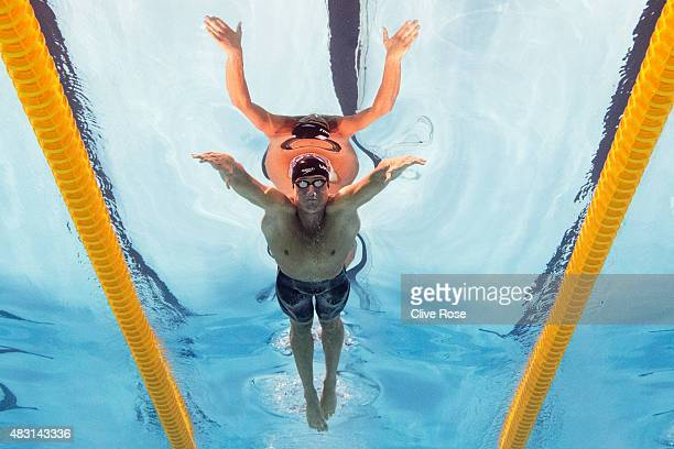Ryan Lochte of the United States competes his way to the gold medal in the Men's 200m Individual Medley Final on day thirteen of the 16th FINA World...
