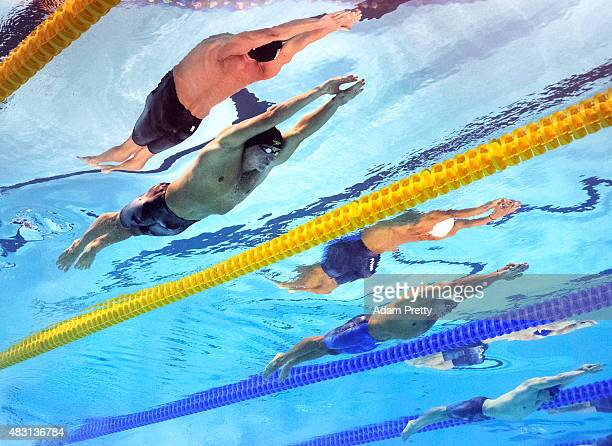 Ryan Lochte of the United States competes in the Men's 200m Individual Medley SemiFinals on day twelve of the 16th FINA World Championships at the...