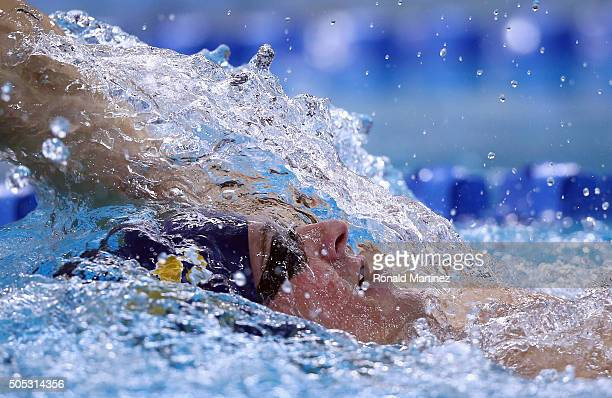 Ryan Lochte swims in the Men's 400 meter individual medley during the Arena Pro Swim Series at Austin on January 16 2016 in Austin Texas