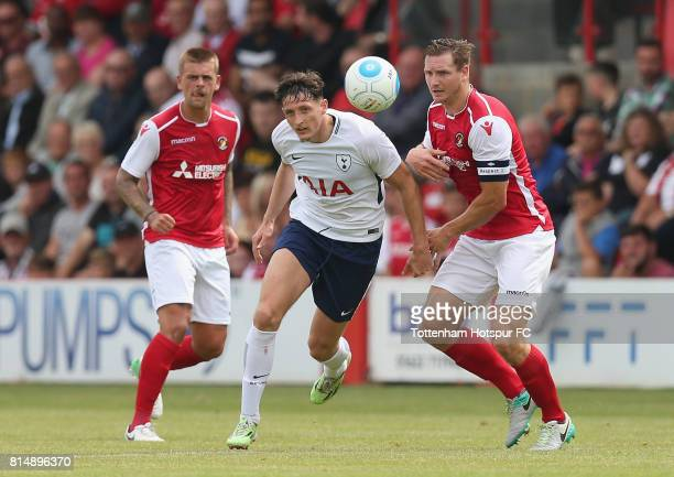 Ryan Loft of Tottenham in action during the preseason friendly match between Ebbsfleet United and Tottenham Hotspur at Stonebridge Road on July 15...
