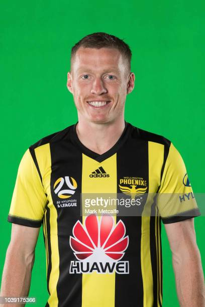 Nathan Burns poses during the Wellington Phoenix ALeague headshots session at Fox Sport Studios on September 24 2018 in Sydney Australia