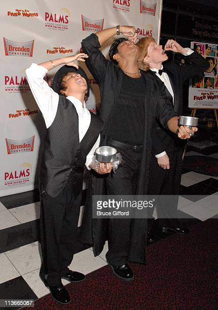 Ryan Malgarini David Darkstone and Adam Hicks during 'How To Eat Fried Worms' Red Carpet Celebrity Event at Palms Casino Resort in Las Vegas Nevada...