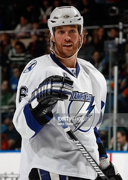Ryan Malone of the Tampa Bay Lightning skates against the New York Islanders on December 22 2010 at Nassau Coliseum in Uniondale New York Islanders...