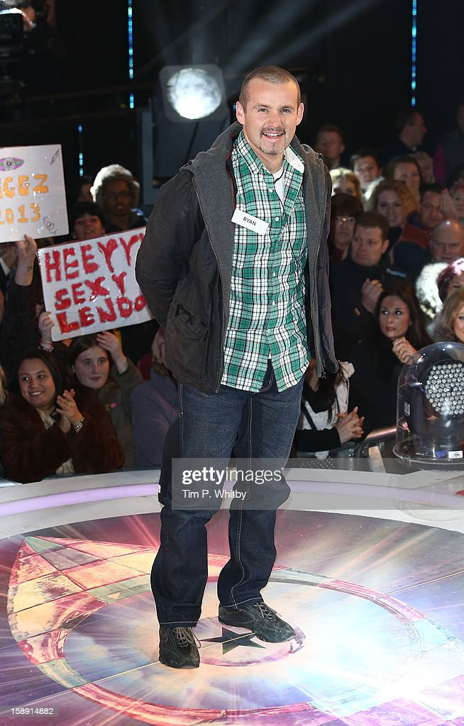 Ryan Maloney enters the Celebrity Big Brother House at Elstree Studios on January 3, 2013 in Borehamwood, England.