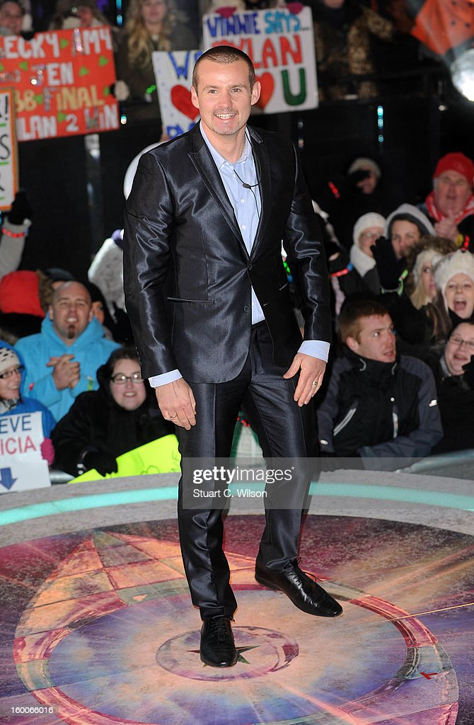 Ryan Maloney is evicted from the Celebrity Big Brother House at Elstree Studios on January 25, 2013 in Borehamwood, England.