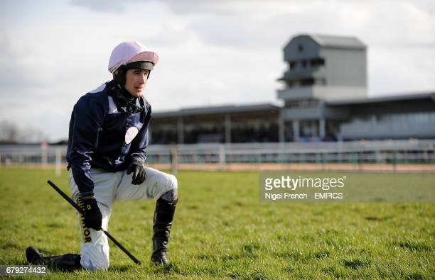 Ryan Mania looks on dejected after falling at the last fence while in the lead on Green Wizard in The totepoolcom Best Odds On Irish Lotto Handicap...