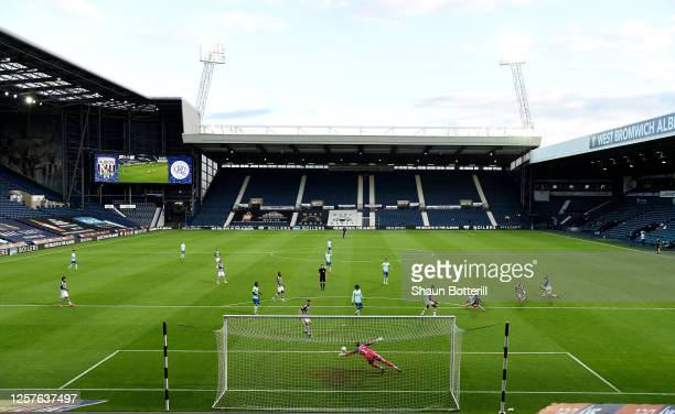 Ryan Manning of Queens Park Rangers scores a goal during the Sky Bet Championship match between West Bromwich Albion and Queens Park Rangers at The...