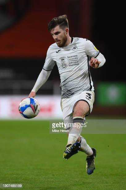 Ryan Manning of Swansea City in action during the Sky Bet Championship match between AFC Bournemouth and Swansea City at Vitality Stadium on March...