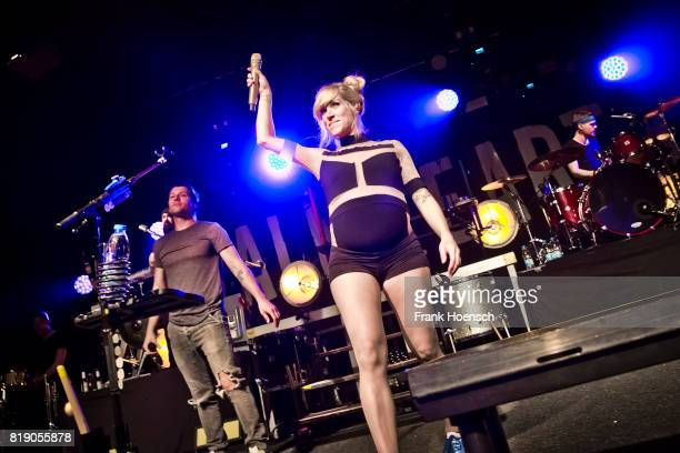 Ryan Marshall and Sarah Blackwood of the American band Walk off the Earth perform live on stage during a concert at the Astra on July 19 2017 in...
