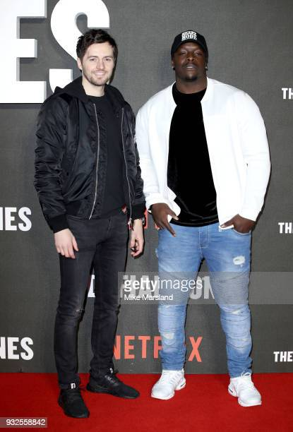 Ryan Mason and Adebayo Akinfenwa attend 'The Defiant Ones' special screening on March 15 2018 in London United Kingdom