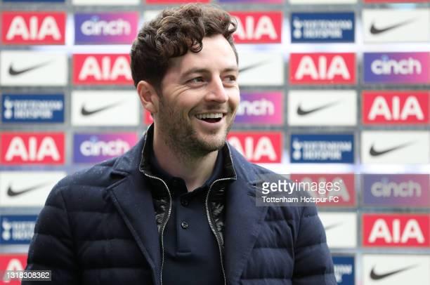 Ryan Mason, Interim Manager of Tottenham Hotspur is interviewed following the Premier League match between Tottenham Hotspur and Wolverhampton...