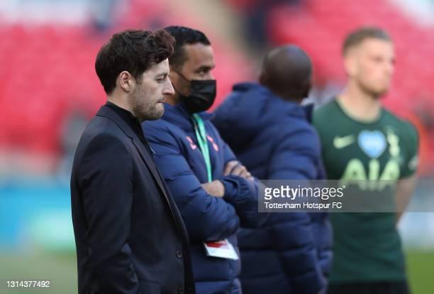 Ryan Mason, Interim Manager of Tottenham Hotspur looks dejecte after the Carabao Cup Final between Manchester City and Tottenham Hotspur at Wembley...