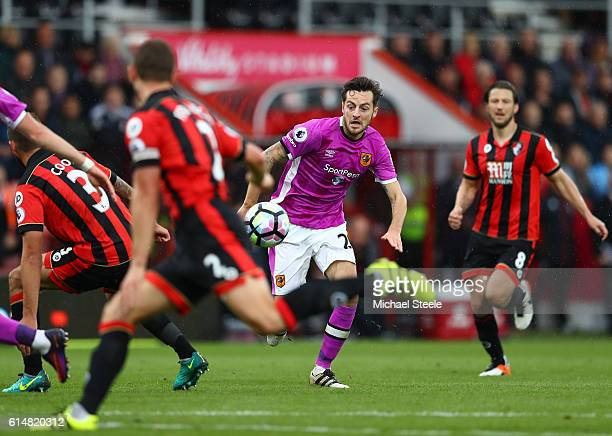 Ryan Mason of Hull City in action during the Premier League match between AFC Bournemouth and Hull City at Vitality Stadium on October 15 2016 in...