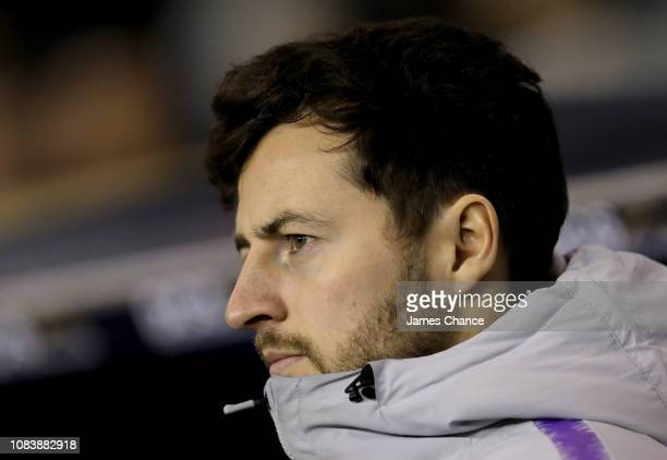 Ryan Mason, Tottenham Hotspur coach looks on prior to the FA Youth Cup Third Round match between Millwall and Tottenham Hotspur at The Den on...