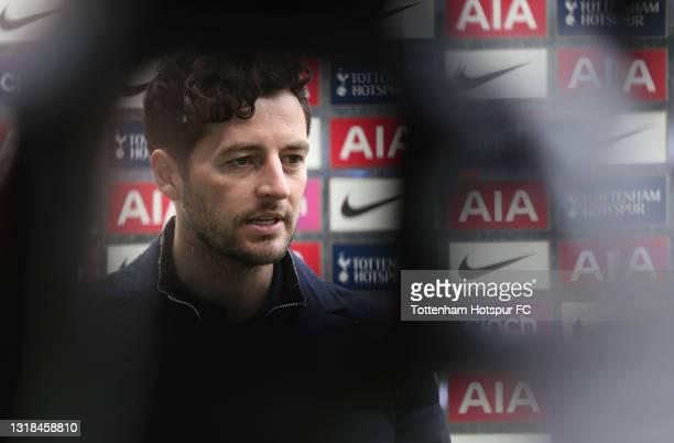 Ryan Mason, Tottenham Hotspur interim manager is interviewed after the Premier League match between Tottenham Hotspur and Wolverhampton Wanderers at...