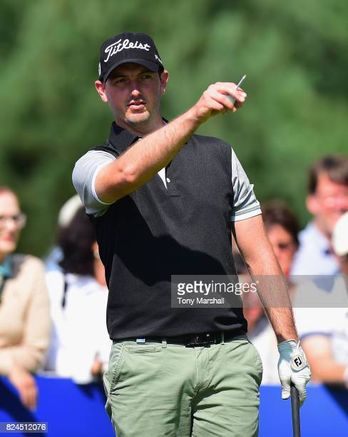 Ryan McCarthy of Australia on the 1st tee during the Porsche European Open Day Four at Green Eagle Golf Course on July 30 2017 in Hamburg Germany