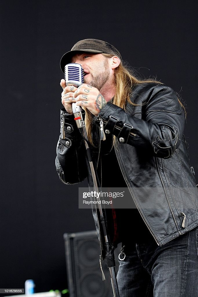 Ryan McCombs of Drowning Pool performs at Columbus Crew Stadium in Columbus, Ohio on MAY