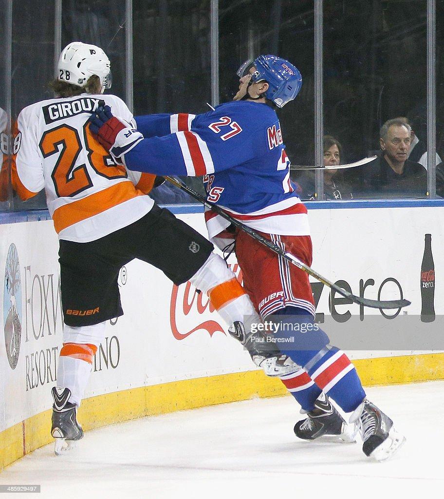 Philadelphia Flyers v New York Rangers - Game Two : News Photo