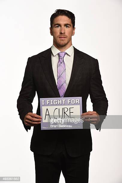 Ryan McDonagh of the New York Rangers poses for pictures at the NHL Player Media Tour at the Ritz Carlton on September 9 2015 in Toronto Ontario