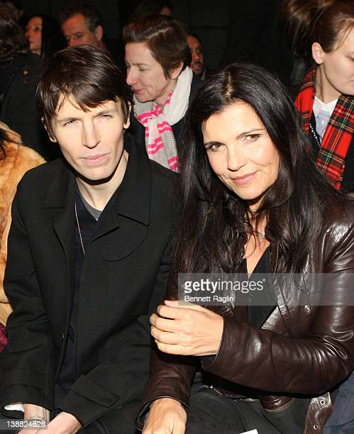 Ryan McGinley and Alison Hewson attend the Edun Fall 2012 fashion show during MercedesBenz Fashion Week at the Pier 57 on February 12 2012 in New...