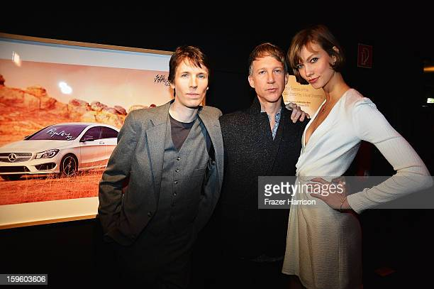 Ryan McGinley Jefferson Hack and Karlie Kloss attend MercedesBenz Press Vernissage during MercedesBenz Fashion Week Berlin at Brandenburg Gate on...