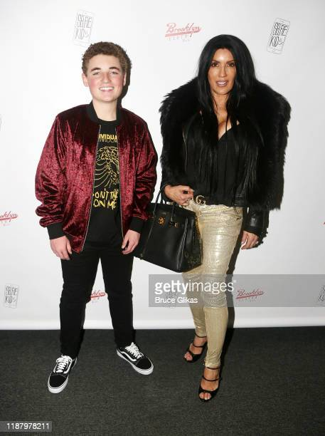 Ryan McKenna aka The Selfie Kid and Below Deck star Helen Hoey pose during a launch event promoting his Selfie Kid X Brooklyn Cloth Limited Edition...