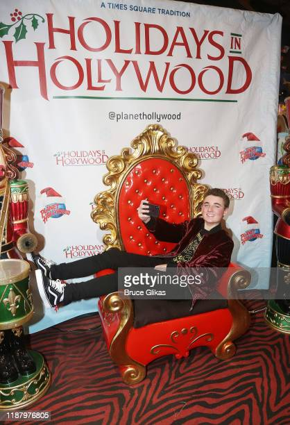 Ryan McKenna aka The Selfie Kid poses during a launch event promoting his Selfie Kid X Brooklyn Cloth Limited Edition TShirt Collaboration at Planet...
