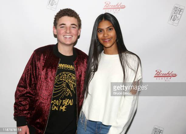 Ryan McKenna aka The Selfie Kid poses with a fan during a launch event promoting his Selfie Kid X Brooklyn Cloth Limited Edition TShirt Collaboration...