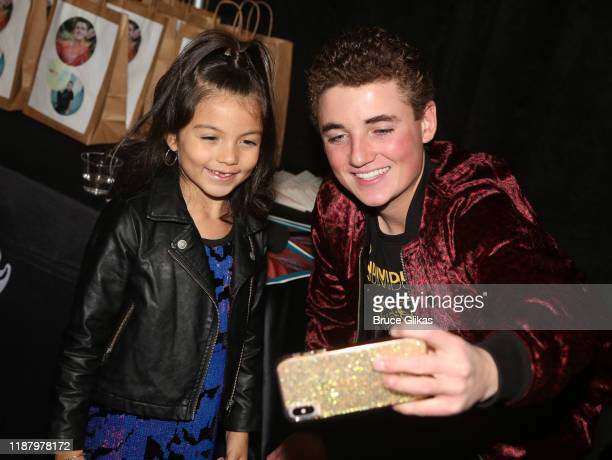 Ryan McKenna aka The Selfie Kid poses with fans during a launch event promoting his Selfie Kid X Brooklyn Cloth Limited Edition TShirt Collaboration...